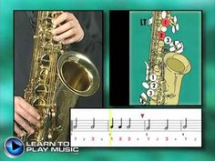 Ex001~T How to Play Saxophone - Saxophone Lessons for Beginners ~ Tenor Part - YouTube