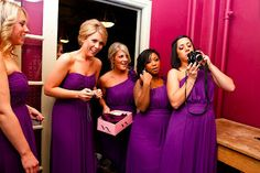 Like the different styles Dessy has - not in orchid  Real Dessy Weddings #dessyrealweddings #weddings #bridal