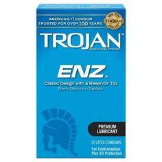 Trojan-Enz Lubricated Premium Latex Condoms - 12ct