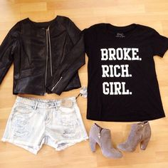 Broke Rich Girls - signature Broke Rich Girl tee