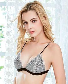 17c122e071768 Slim Sexy Lace Bra Wire Free Breathable Comfort Women Underwear