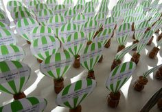 Hot air balloon place cards