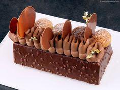 Bûche Saint Honoré brownie - Notre recette illustrée - MeilleurduChef.com