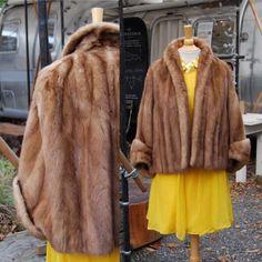 Vintage Mink Capelet  // 1950 1960 // Vintage Brown Mink Cape // Hollywood Glamour Fur by lodekka on Etsy https://www.etsy.com/listing/258922724/vintage-mink-capelet-1950-1960-vintage