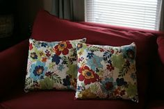 Pie Birds, Buttons and Muddy Puddles: How to Make Throw Pillows