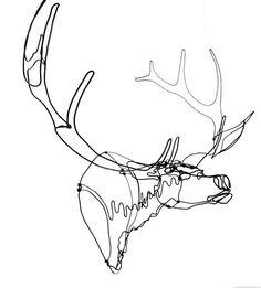 Trophy Elk Wire Sculpture.
