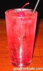 Slutty Temple - 2 oz. Vodka, Lemon Lime soda, 1/2 oz Gernadine; garnish w/ cherry