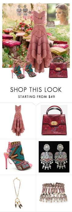 """""""Boho Style Tea Party"""" by sherrysrosecottage-1 ❤ liked on Polyvore featuring Zimmermann, Dolce&Gabbana and Etro"""