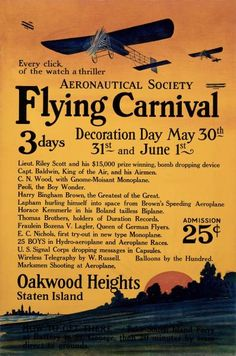 Unknown - Aeronautical Society Flying Carnival - art prints and posters