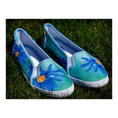 Blue Daisies Custom Printed Keds Shoes - DBArtworks - One of A Kind - Size 9 - $48.95 - Free Shipping