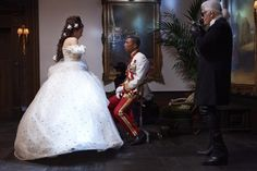 Karl Lagerfeld directing Cara Delevingne and Pharrell