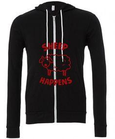 sheep happens funny Zipper Hoodie