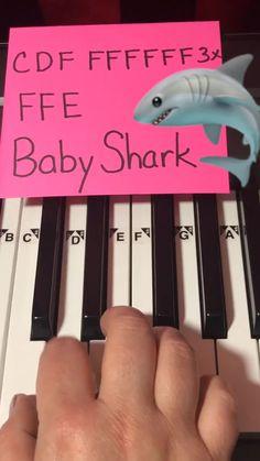 therubypiano(@therubypiano) on TikTok: How to play Baby Shark on Piano 🎹❤️🦈 #babyshark #piano #pianotutorial