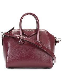 GIVENCHY mini Antigona tote bag. #givenchy #bags #shoulder bags #hand bags #lining #tote #patent #
