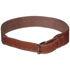 L Custom Leathercraft 41-Inch-46-Inch Long Tapered Leather Work Belt,