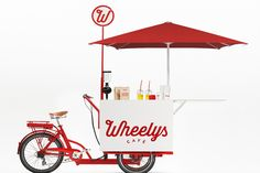 The hyped café chain of organic, solar powered bike cafes. Start your own café from only usd. Cheaper than any food truck ever. Mobile Kiosk, Mobile Cafe, Mobile Shop, Coffee Franchise, Bike Food, Velo Cargo, Mobile Food Trucks, Mobile Catering, Coffee Carts