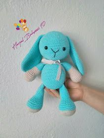 AmiGURUMI is a lot of fun makes children happy or you still . AmiGURUMI is a lot of fun makes children happy o Easter Crochet, Crochet Crafts, Crochet Toys, Knitting Projects, Crochet Projects, Knitted Bunnies, Crochet Rabbit, Amigurumi Toys, Easter Crafts