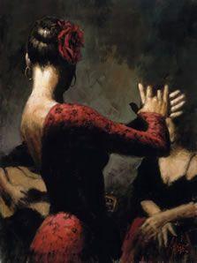 "Fabian Perez - ""Tablado Flamenco I"""