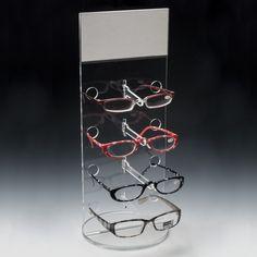 3 emplacements de lunettes de soleil organisateur de la boîte de rangement en cuir de PU lunettes Présentoir de bijoux de voyage Watch encadré pour