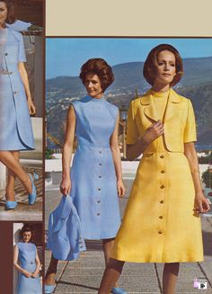 Modest spring dresses of the early 1970's