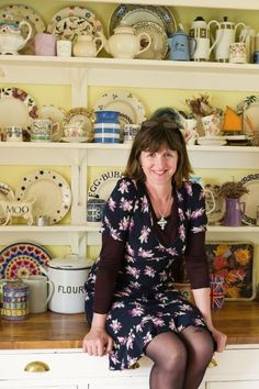 You will probably have guessed by now that I am a great admirer of Emma Bridgewater pottery. I am a collector of sorts, though compared to . Shabby Chic Sofa, Shabby Chic Crafts, Shabby Chic Farmhouse, Shabby Chic Kitchen, Vintage Kitchen, Emma Bridgewater Pottery, Cornishware, My Emma, Barker And Stonehouse