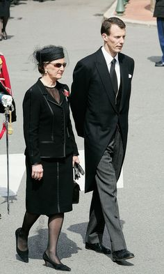 Queen Sonja, April 15, 2005, at the funeral of Prince Rainier of Monaco