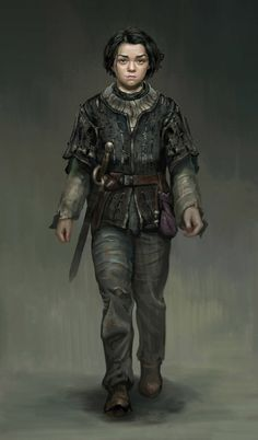 Realistic Digital Painting of Arya Stark by Frank Lee Game Of Thrones Artwork, Game Of Thrones Dragons, Winter Is Here, Winter Is Coming, Arya Stark Art, Character Concept, Character Art, Adele, Familia Stark