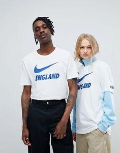 Nike Football | Nike Football England Swoosh Logo T-Shirt In White 888873-100