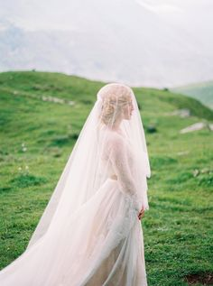beautiful traditional lace veil