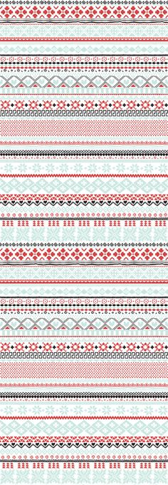 "Being the knitter that I am, how could I ever resist a ""Knitwear"" wallpaper pattern?"