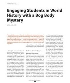 Engaging Students in World History with a Bog Body Mystery  Michael M. Yell