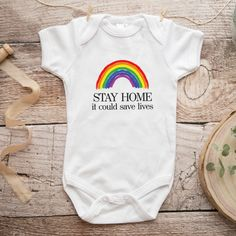 stayhome_body We Are Strong, Save Life, Together We Can, Baby Bodysuit, Composition, Cotton, Clothes, Ring, Black