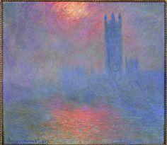 'Londres, el Parlamento. Boquete de sol en la niebla' (1904), de Claude Monet