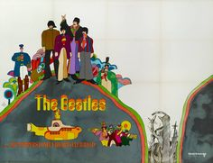 Yellow Submarine Film Poster | From a unique collection of antique and modern posters at https://www.1stdibs.com/furniture/wall-decorations/posters/