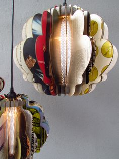 Interesting- lamps made of laser cut albums