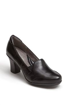 Free shipping and returns on Naturalizer 'Liora' Pump at Nordstrom.com. A rounded toe and sturdy heel lend feminine charm to a timeless loafer in lustrous leather. A padded collar and cushioned insole make it comfortable enough for all-day wear.
