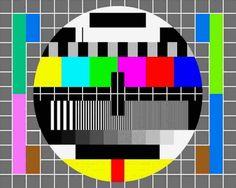 Dieses Bild lief immer nachts, wenn Du vergessen hast, den Fernseher auszuschalten.