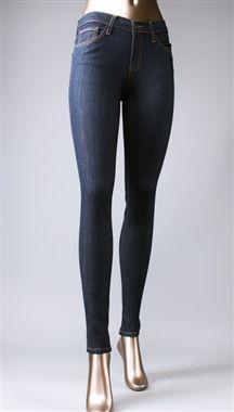 ddf84bdd1fafc High Waisted Skinny Jeans in Dark Blue by Flying Monkey   Apparel Addiction  - Jegging - Blue Jean
