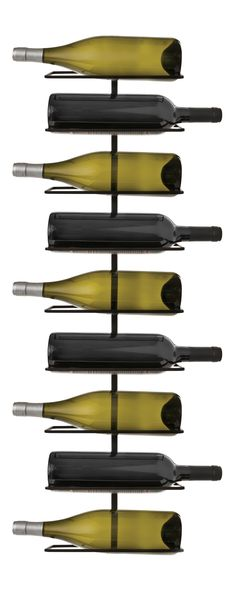 Wine and dine with this accessible style. Our Kimber Wine Rack is made with a black wrought iron frame and elegantly holds nine bottles of wine. This wall-mounted design comes with screws for stress-fr...  Find the Kimber Wine Rack, as seen in the Storage Collection at http://dotandbo.com/category/kitchen-and-dining/storage?utm_source=pinterest