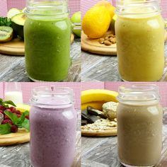 Top 4 rețete de smoothies hrănitoare și delicioase - savuros.info Smoothies, Healthy Food, Healthy Recipes, Kiwi, Cantaloupe, Deserts, Food And Drink, Drinks, Cooking