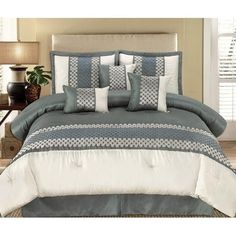 11pc Andrea Grey Luxury Bedding Set Size: King Sheet Set Color: Silver-Grey