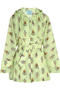 Prada - Printed Shell Hooded Jacket - Mint - IT40