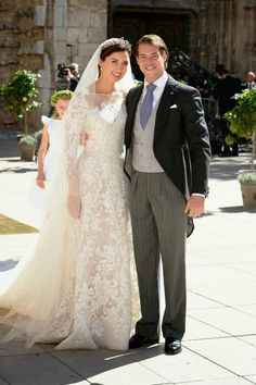 Royal Wedding:Prince Felix of Luxembourg and Princess Claire (wearing Elie Saab) marry in religious wedding ceremony in Provence, France 9/21/2013