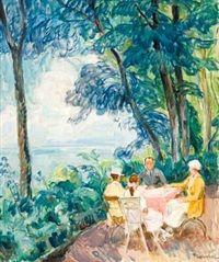Familien i hagen par Thorolf Holmboe