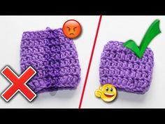 При вязании по кругу столбиками с накидом в начале ряда нужно связать 2 или 3 воздушные петли подъема. В конечном счете эти петли подъема образуют некрасивый шов. Crochet Stitches Patterns, Stitch Patterns, Christmas Ornaments, Knitting, Holiday Decor, Crocheting, Youtube, Crochet, Tricot