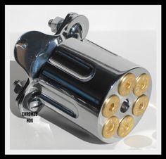 Custom Chrome 6 Shooter Gun Steering Wheel Knob