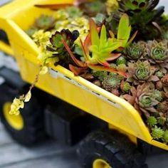 Toy Truck Planter