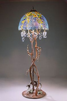 """Wisteria"" Floor Lamp by E. A. Chase.  He's  friend of mine:)"