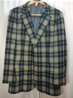 A personal favorite from my Etsy shop https://www.etsy.com/listing/215196730/mens-plaid-sports-jacket-40r-vintage