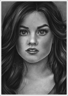 Lucy Hale Drawing by Zindy S. D. Nielsen